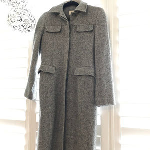 Jackets & Blazers - Gray Fitted Long Wool Coat